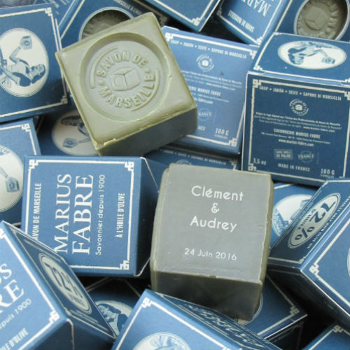 Cube of Marseille soap to personalize
